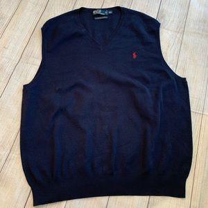 POLO Ralph Lauren Navy Blue Sweater Vest in XXL